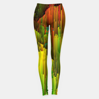 Miniaturka Organic Geometry - Glitchy Abstract Pixel Art Leggings, Live Heroes