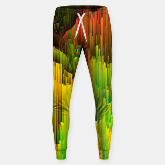 Thumbnail image of Organic Geometry - Glitchy Abstract Pixel Art Cotton sweatpants, Live Heroes
