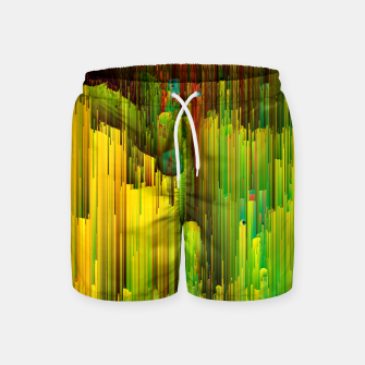 Imagen en miniatura de Organic Geometry - Glitchy Abstract Pixel Art Swim Shorts, Live Heroes