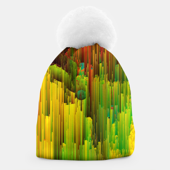 Thumbnail image of Organic Geometry - Glitchy Abstract Pixel Art Beanie, Live Heroes