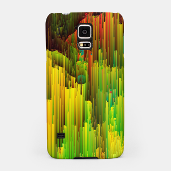 Miniatur Organic Geometry - Glitchy Abstract Pixel Art Samsung Case, Live Heroes