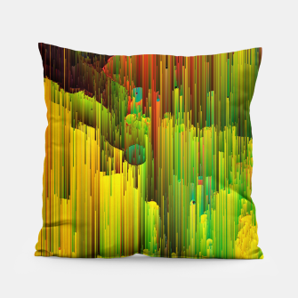 Miniatur Organic Geometry - Glitchy Abstract Pixel Art Pillow, Live Heroes