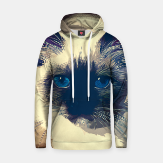 Miniatur gxp holy birma cat blue eyes vector art foggy night Cotton hoodie, Live Heroes