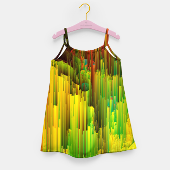 Miniatur Organic Geometry - Glitchy Abstract Pixel Art Girl's dress, Live Heroes