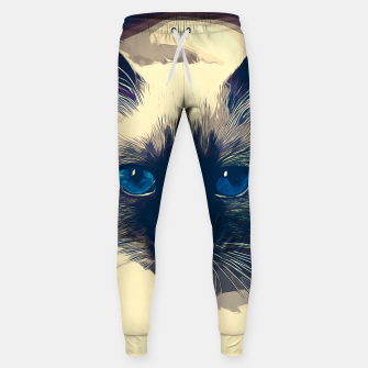 Thumbnail image of gxp holy birma cat blue eyes vector art foggy night Cotton sweatpants, Live Heroes