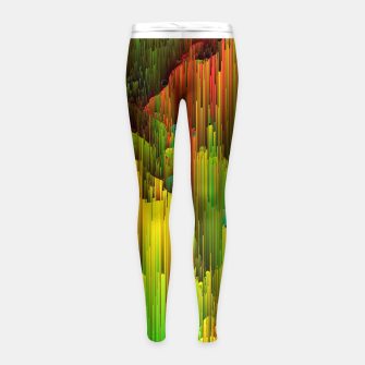Thumbnail image of Organic Geometry - Glitchy Abstract Pixel Art Girl's leggings, Live Heroes