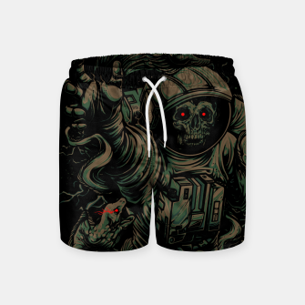 Miniature de image de Space-Zombie in the Water Swim Shorts, Live Heroes