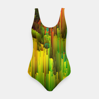 Imagen en miniatura de Organic Geometry - Glitchy Abstract Pixel Art Swimsuit, Live Heroes