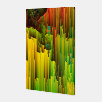 Miniatur Organic Geometry - Glitchy Abstract Pixel Art Canvas, Live Heroes
