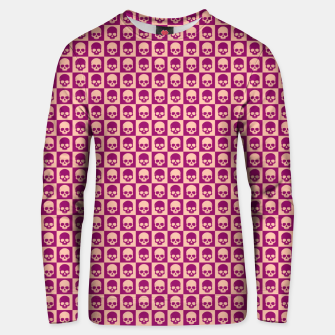 Thumbnail image of Checkered Skulls Pattern II Cotton sweater, Live Heroes