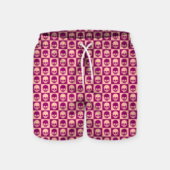Imagen en miniatura de Checkered Skulls Pattern II Swim Shorts, Live Heroes