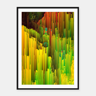 Miniaturka Organic Geometry - Glitchy Abstract Pixel Art Framed poster, Live Heroes