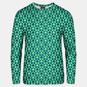 Thumbnail image of Checkered Skulls Pattern III Cotton sweater, Live Heroes