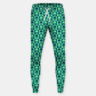 Thumbnail image of Checkered Skulls Pattern III Cotton sweatpants, Live Heroes