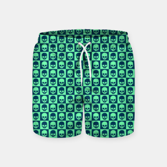 Miniature de image de Checkered Skulls Pattern III Swim Shorts, Live Heroes