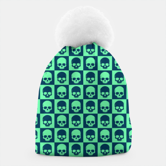 Thumbnail image of Checkered Skulls Pattern III Beanie, Live Heroes