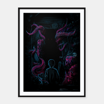 Miniature de image de Monster in my Room Framed poster, Live Heroes