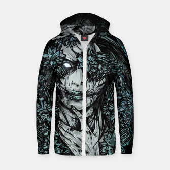 Miniature de image de Zombie Girl Cotton zip up hoodie, Live Heroes