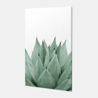 Miniatur Agave Green Summer Vibes #1 #tropical #decor #art  Canvas, Live Heroes