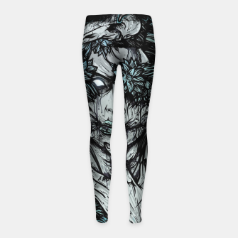 Thumbnail image of Zombie Girl Girl's leggings, Live Heroes