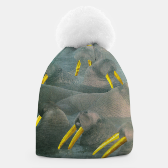 Thumbnail image of Gold Grillz Beanie, Live Heroes