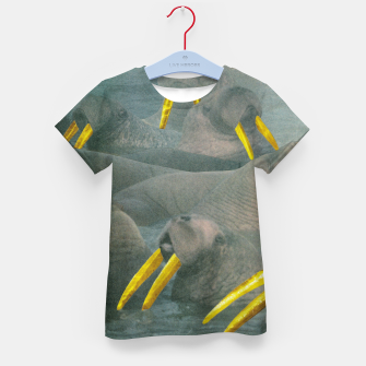 Thumbnail image of Gold Grillz Kid's t-shirt, Live Heroes