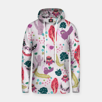 Miniatur Owl Forest Cotton hoodie, Live Heroes