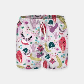 Miniatur Owl Forest Swim Shorts, Live Heroes