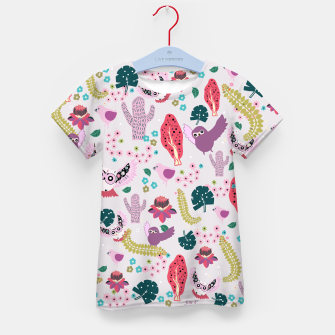 Thumbnail image of Owl Forest Kid's t-shirt, Live Heroes