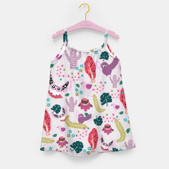 Miniatur Owl Forest Girl's dress, Live Heroes