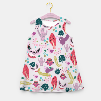 Miniaturka Owl Forest Girl's summer dress, Live Heroes