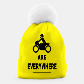Thumbnail image of Motorcycles Are Everywhere Beanie, Live Heroes
