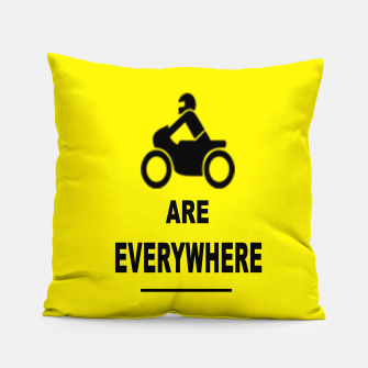 Miniatur Motorcycles Are Everywhere Pillow, Live Heroes