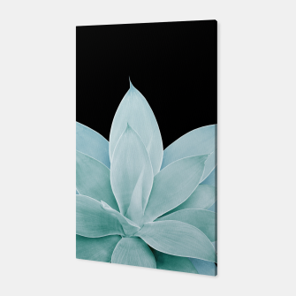 Miniatur Green Agave on Black #2 #tropical #decor #art Canvas, Live Heroes
