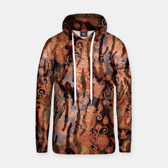 Thumbnail image of Texture Paisleys Cotton hoodie, Live Heroes