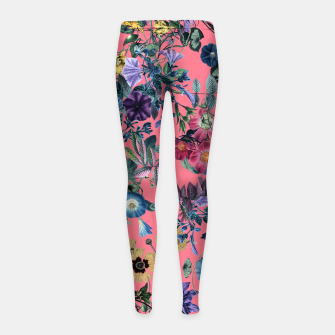 Surreal Floral Girl's leggings Bild der Miniatur