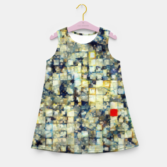 Miniaturka The Red Square Girl's summer dress, Live Heroes