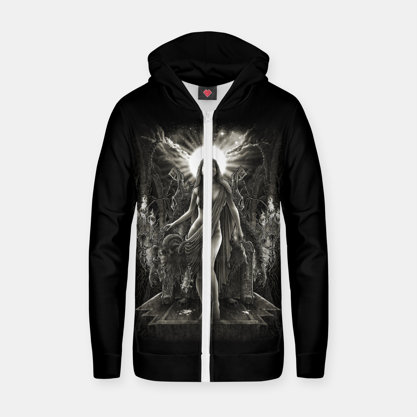 Image of Winya No. 140 Cotton zip up hoodie - Live Heroes