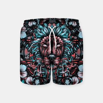 Miniature de image de Lion blue Swim Shorts, Live Heroes
