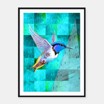 Thumbnail image of Hummingbird Framed poster, Live Heroes