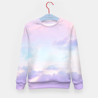 Thumbnail image of Unicorn Pastel Clouds #1 #decor #art  Kindersweatshirt, Live Heroes