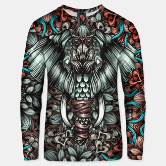 Thumbnail image of Elephant and flowers Cotton sweater, Live Heroes