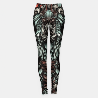 Thumbnail image of Elephant and flowers Leggings, Live Heroes