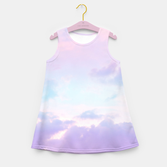 Thumbnail image of Unicorn Pastel Clouds #1 #decor #art  Mädchen-Sommerkleid, Live Heroes