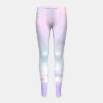 Thumbnail image of Unicorn Pastel Clouds #1 #decor #art  Kinder-Leggins, Live Heroes