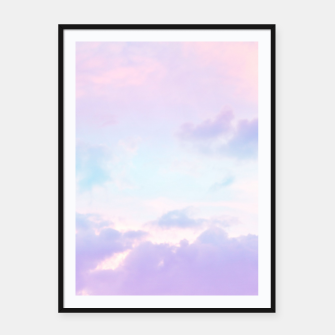 Thumbnail image of Unicorn Pastel Clouds #1 #decor #art  Plakat mit rahmen, Live Heroes