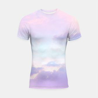 Thumbnail image of Unicorn Pastel Clouds #1 #decor #art  Shortsleeve rashguard, Live Heroes