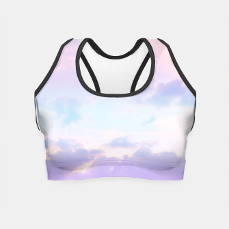 Thumbnail image of Unicorn Pastel Clouds #1 #decor #art  Crop Top, Live Heroes