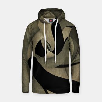 Miniatur crow abstract Cotton hoodie, Live Heroes
