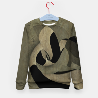 Miniatur crow abstract Kid's sweater, Live Heroes